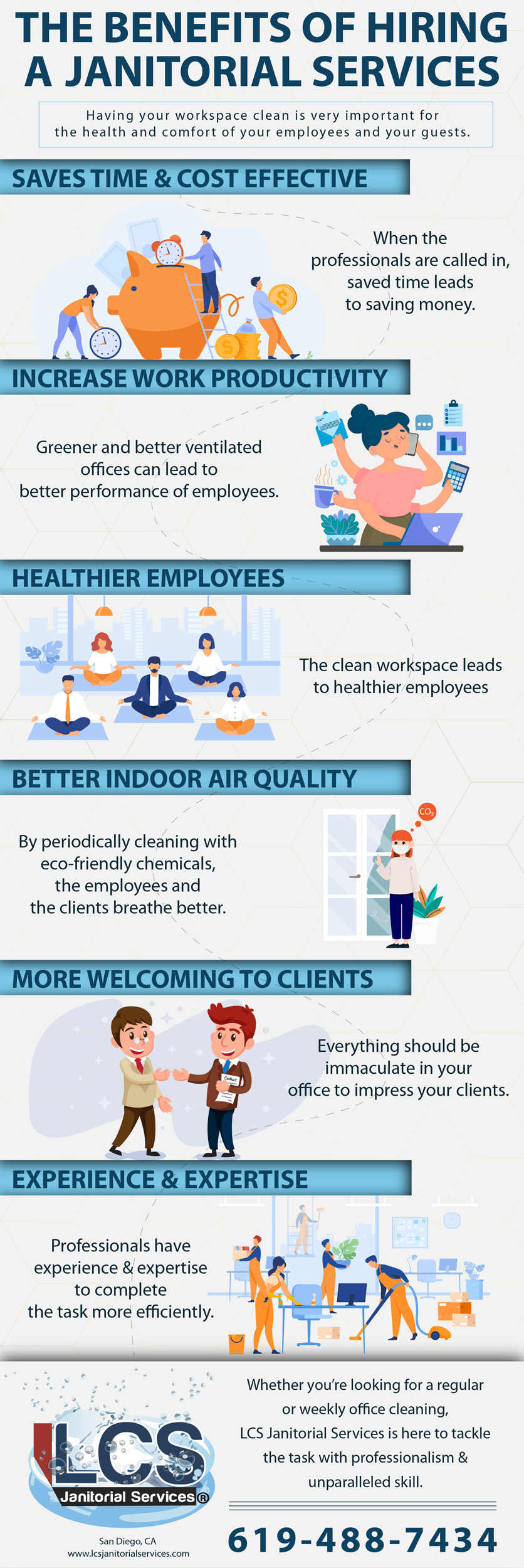 The Benefits Of Hiring A Janitorial Services Infographic